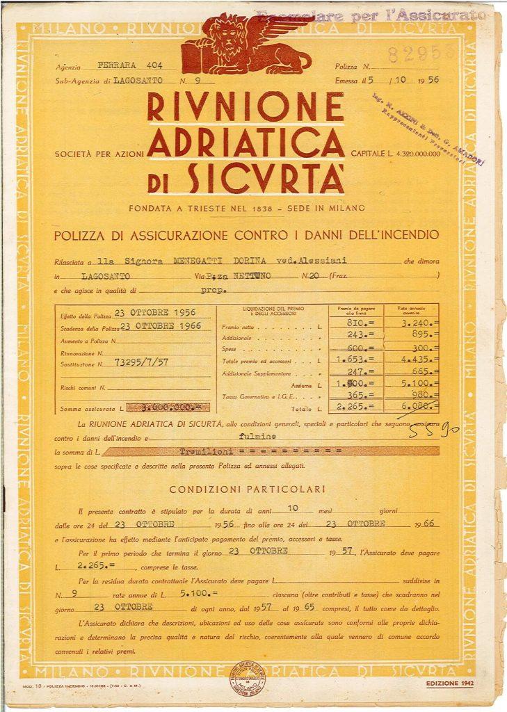 Polizza Fronte 1956